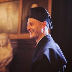Carlo Leget hield 26 juni 2013 zijn oratie Zorg om betekenis. (Foto: Eva Leget)